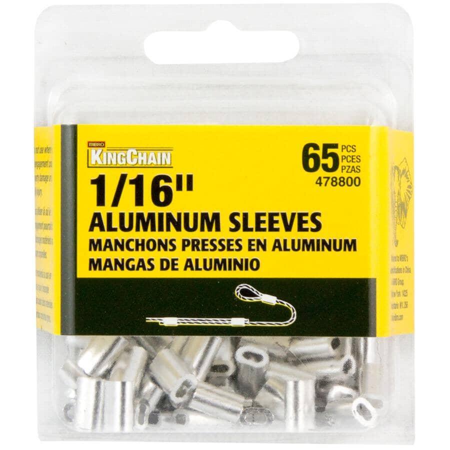 "KINGCHAIN:1/16"" Aluminum Sleeves - 65 Pack"
