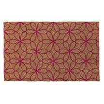 """FHE:Floral Coir Door Mat - with Rubber Back, 18"""" x 30"""""""