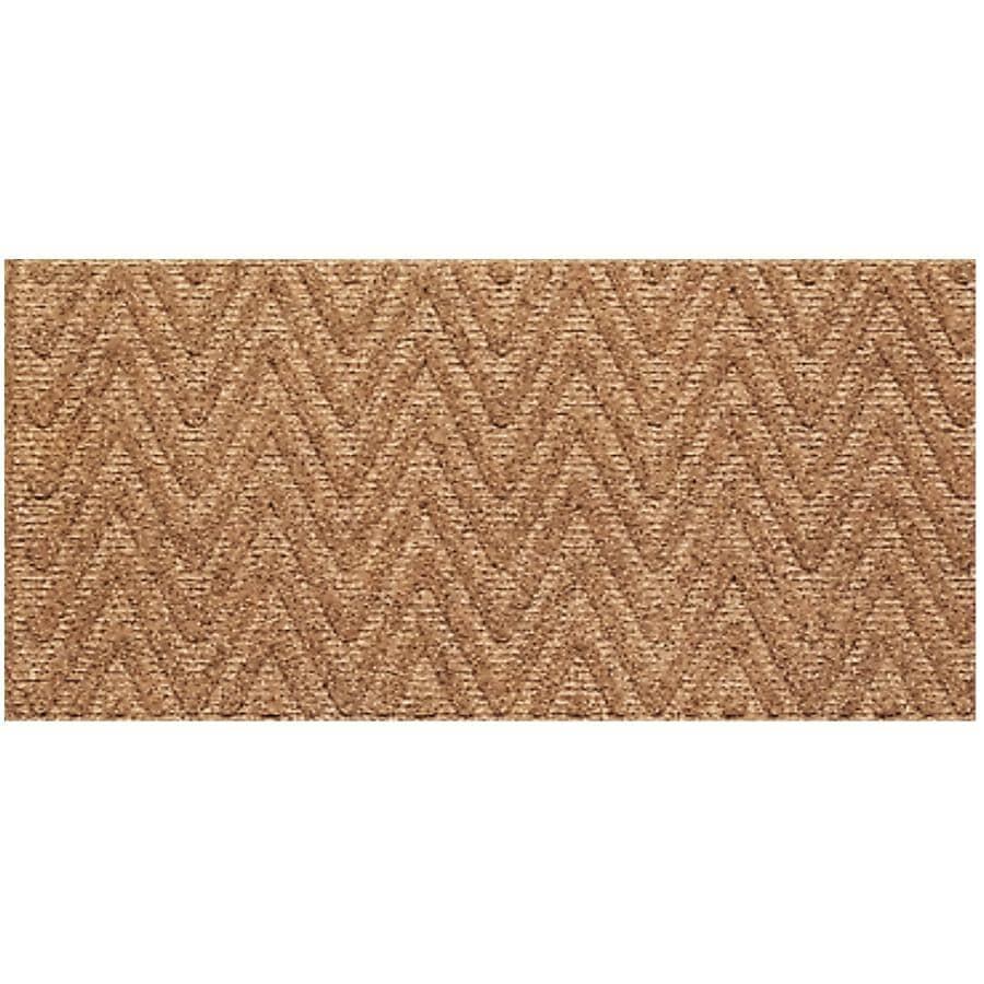 FHE:Paillasson en fibre de coco à chevrons texturés avec endos en caoutchouc, 22 x 47 po