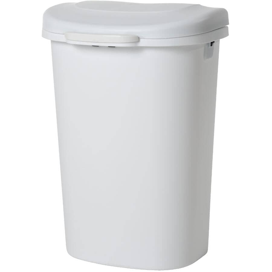 RUBBERMAID:Spring-Top Garbage Can - White, 49.2 L