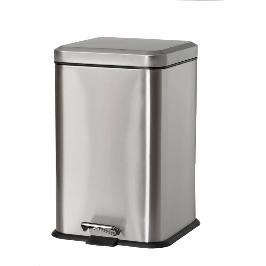 HOMEWARES:20L Stainless Steel Square Step-On Garbage Can