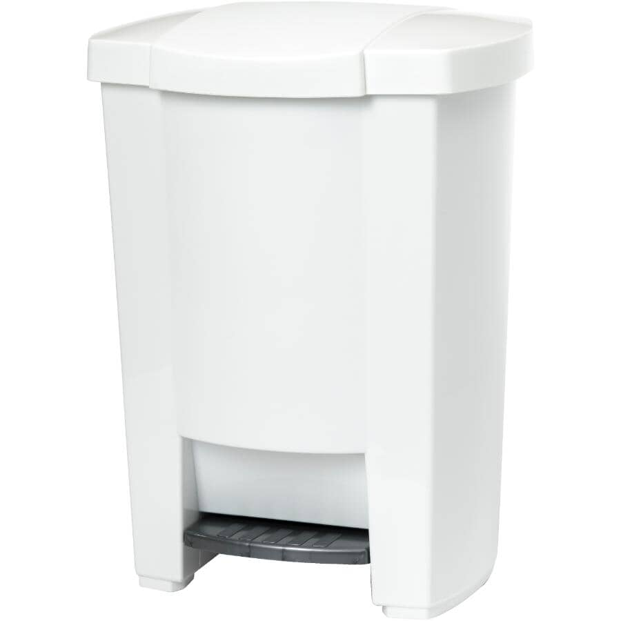 MISTRAL:Step-On Garbage Can - White, 19 L