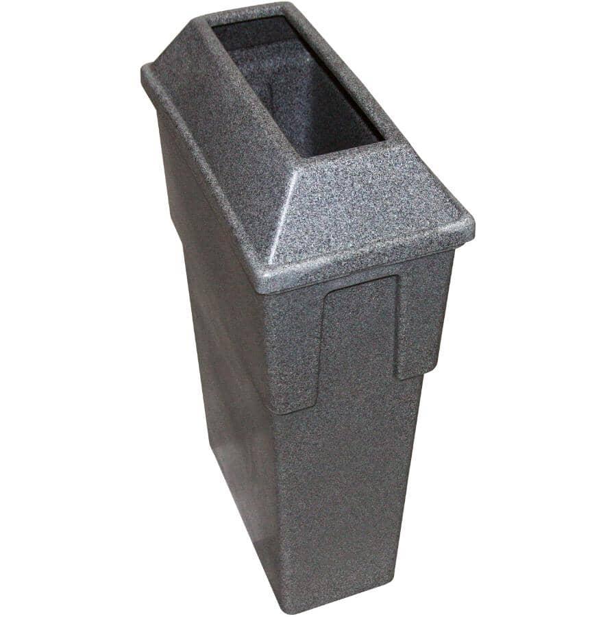 ADVANTAGE:Bullseye Container with Rectangular Slot - Granite Grey, 16 Gal