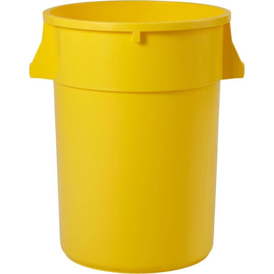 ADVANTAGE:Poubelle Gator, jaune, 44 gal