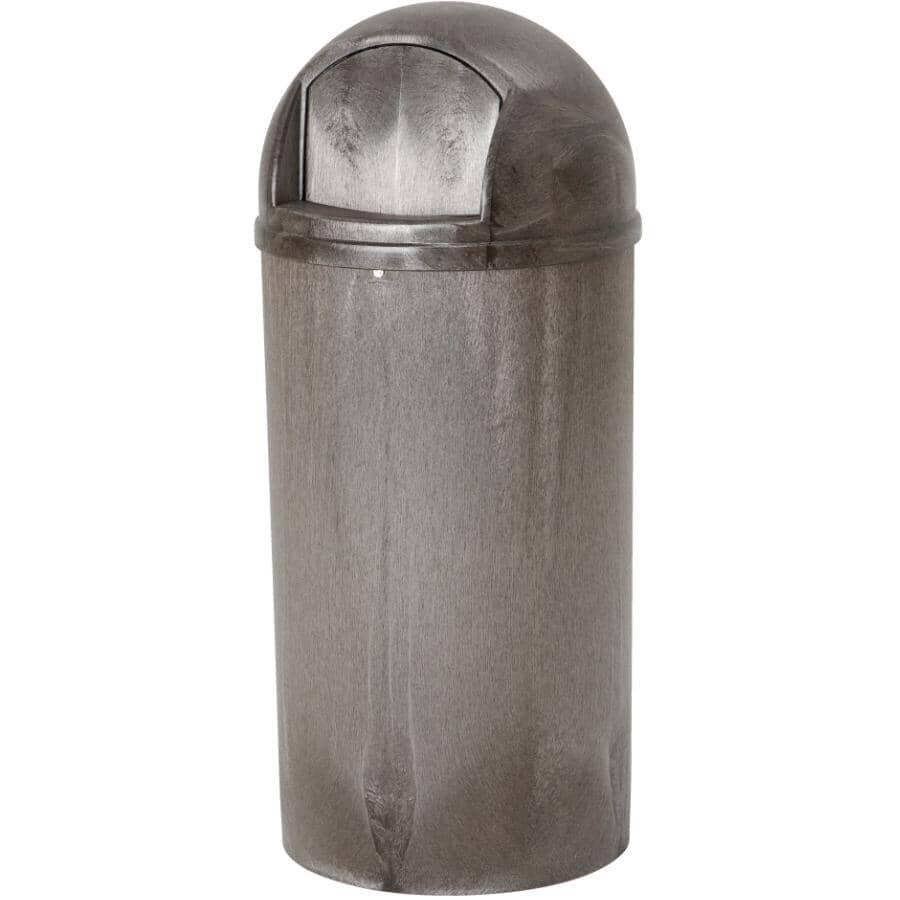 ADVANTAGE:Poubelle avec couvercle bombé, brun foncé, 21 gal