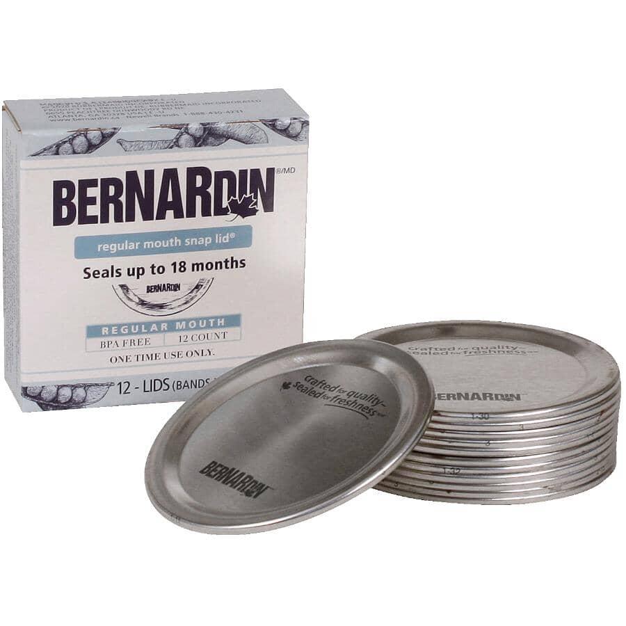 BERNARDIN:12 Pack Regular Mason Jar Lids
