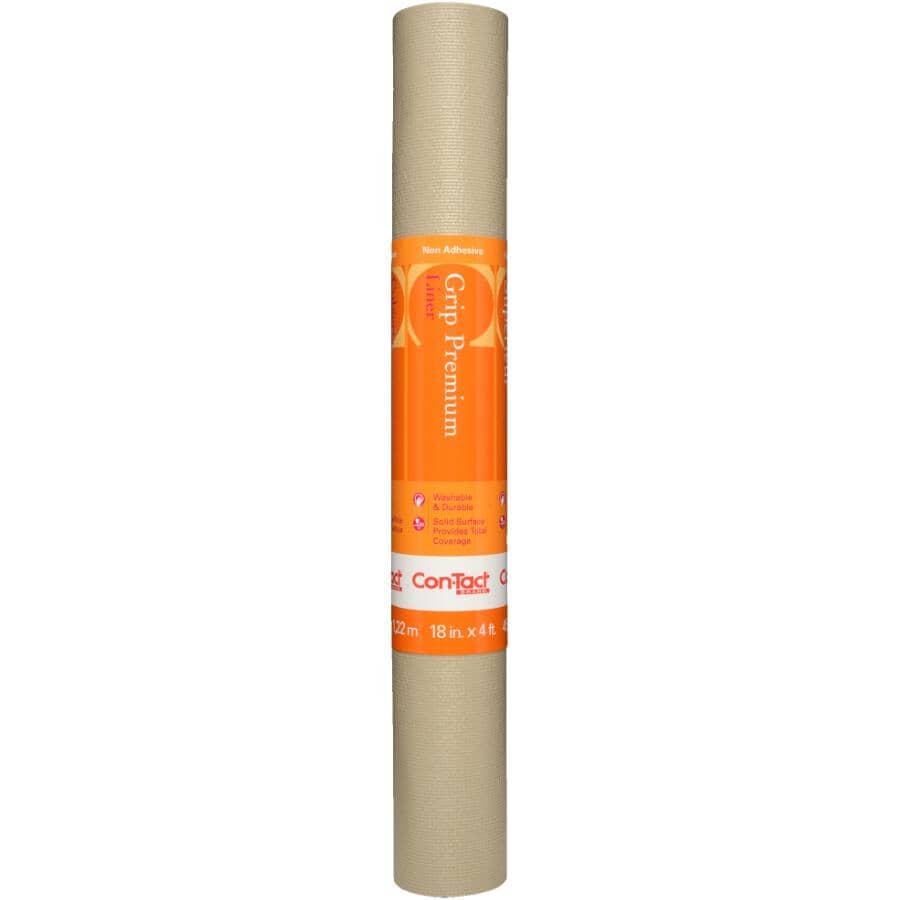 "CONTACT:Non-Adhesive Grip Premium Liner - Taupe, 18"" x 4'"