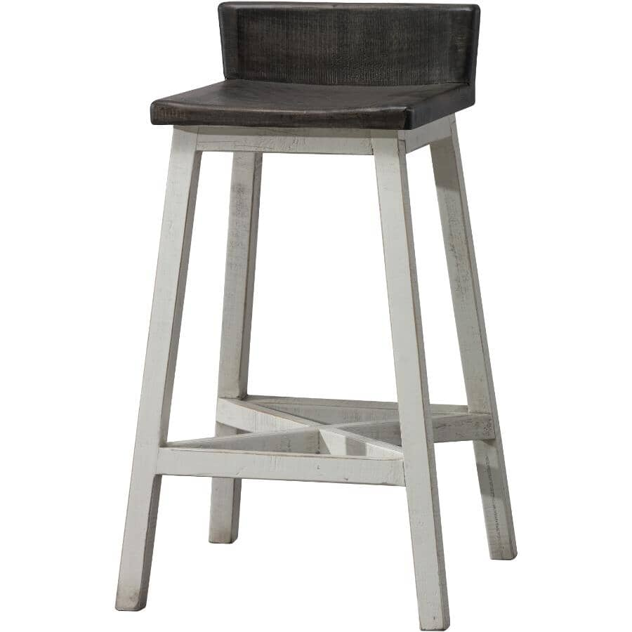 """IFD INTERNATIONAL FURNITURE DIRECT:30"""" Stone Collection Wooden Bar Stool"""