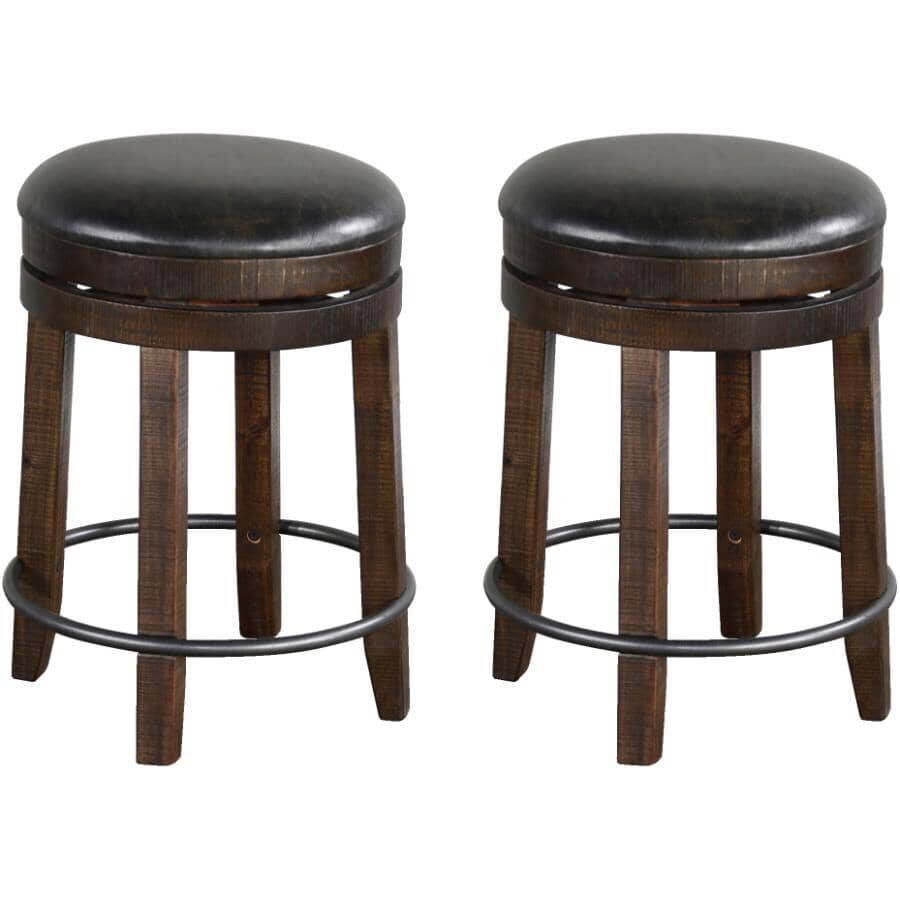 """SUNNY DESIGNS:2 Pack 24"""" Tobacco Leaf Bar Stools, with Cushion Seat"""