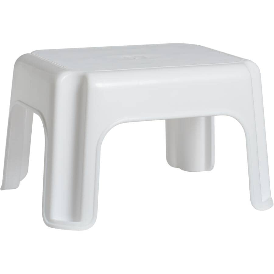RUBBERMAID:1-Step White Roughneck Step Stool
