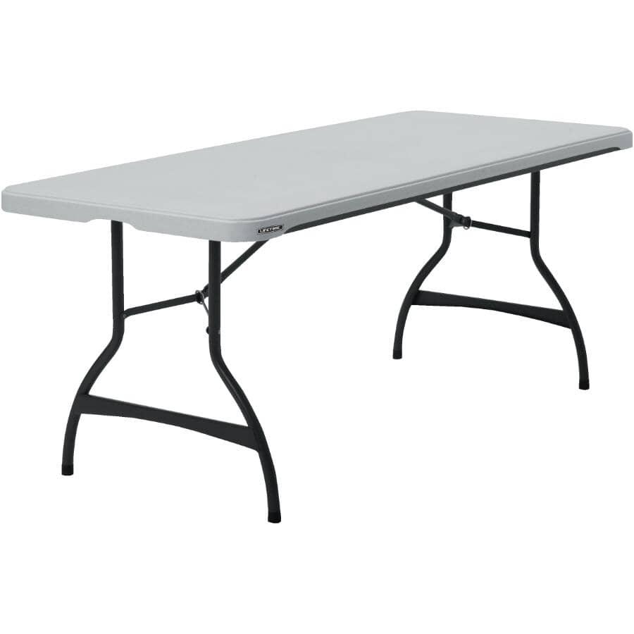 """LIFETIME:72"""" x 30"""" Commercial White Rectangular Folding Table"""