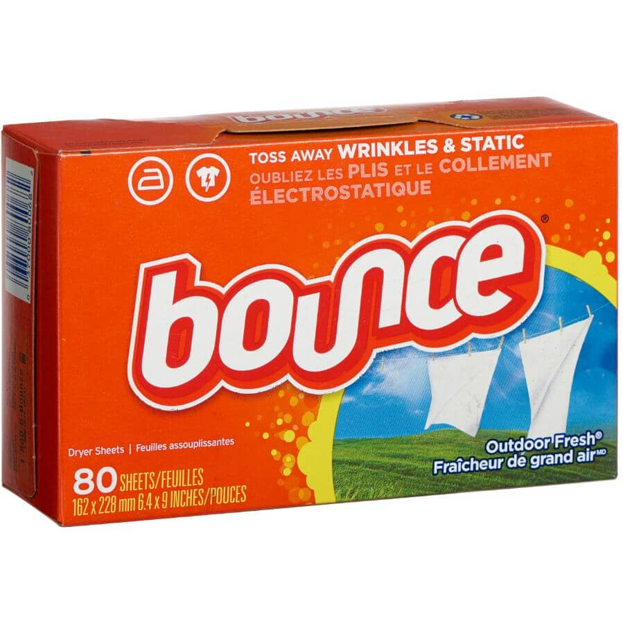 BOUNCE:80 Outdoor Fresh Fabric Softener Sheets
