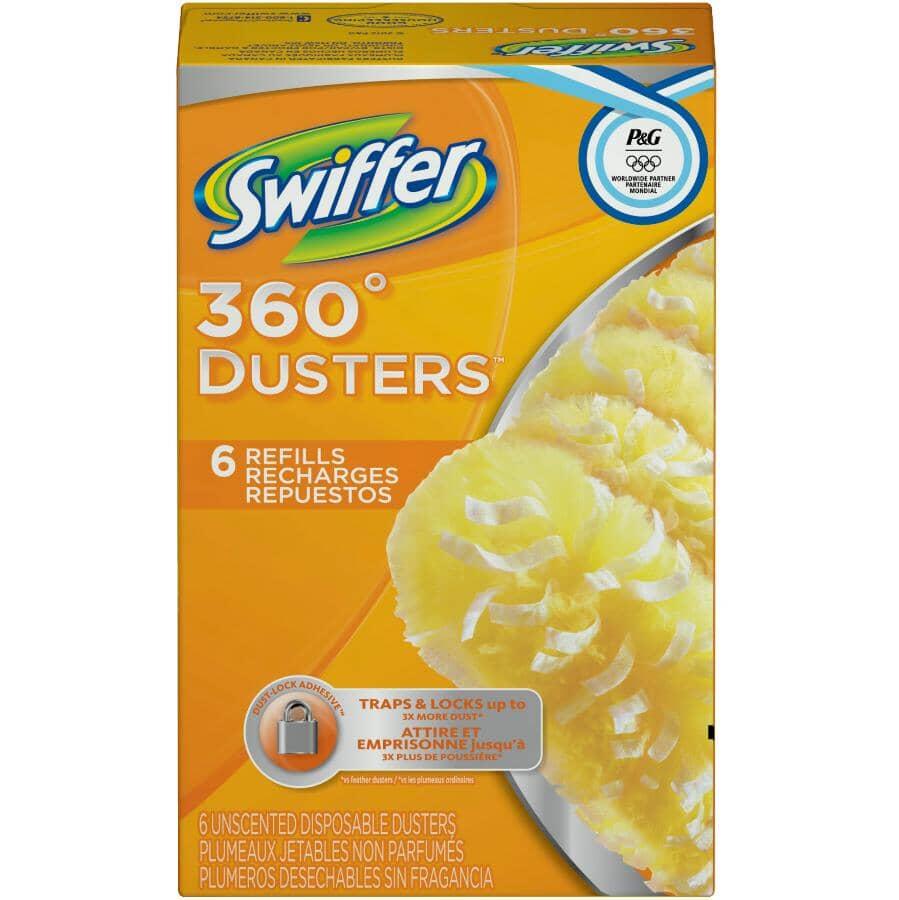 SWIFFER:Paquet de 6 recharges de plumeau non parfumés, 360 degrés