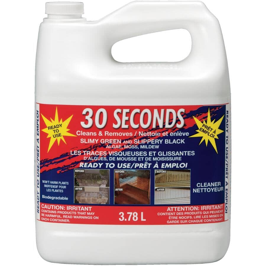 30 SECONDS:3.78L Outdoor Cleaner