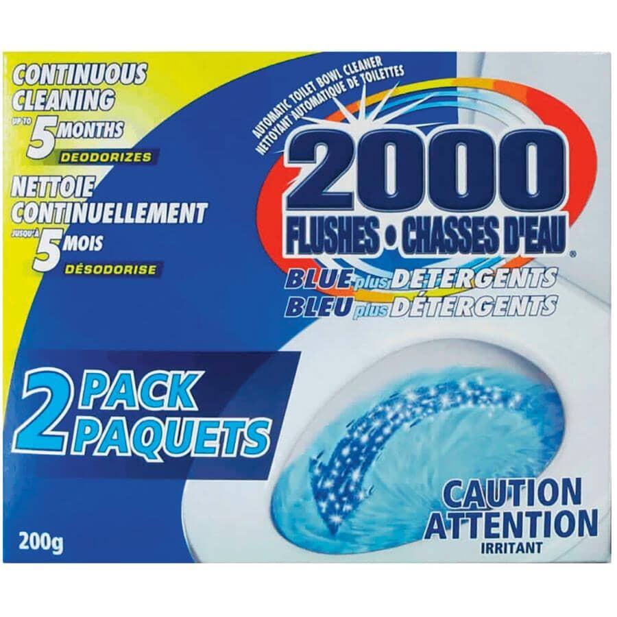 2000 FLUSHES:2 Pack Blue Plus Detergent Toilet Bowl Cleaner