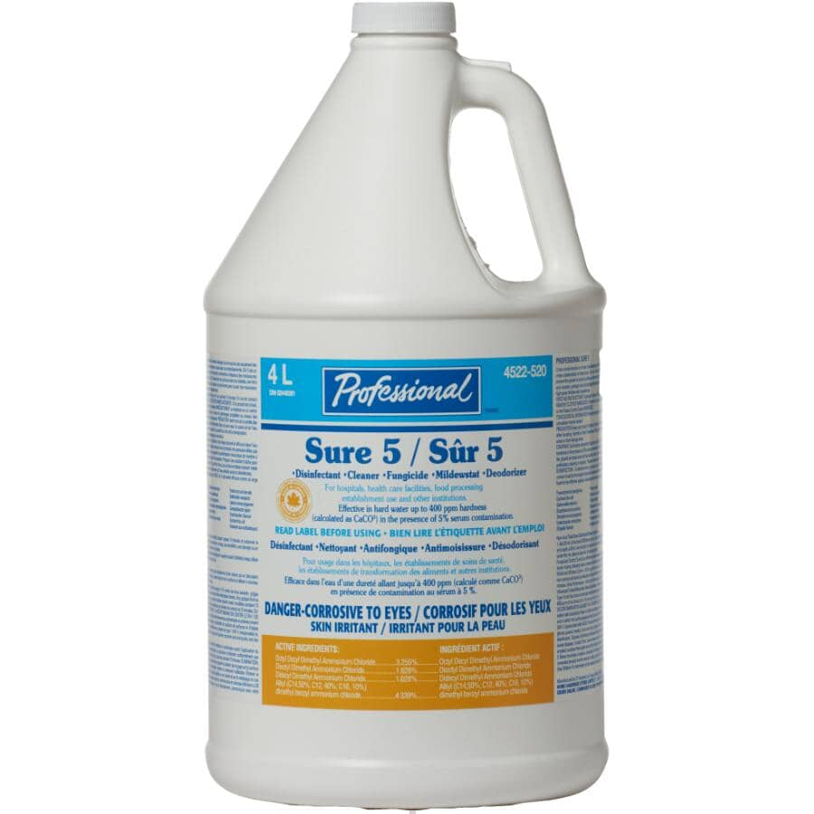PROFESSIONAL:4L Cleaner and Disinfectant All Purpose Cleaner