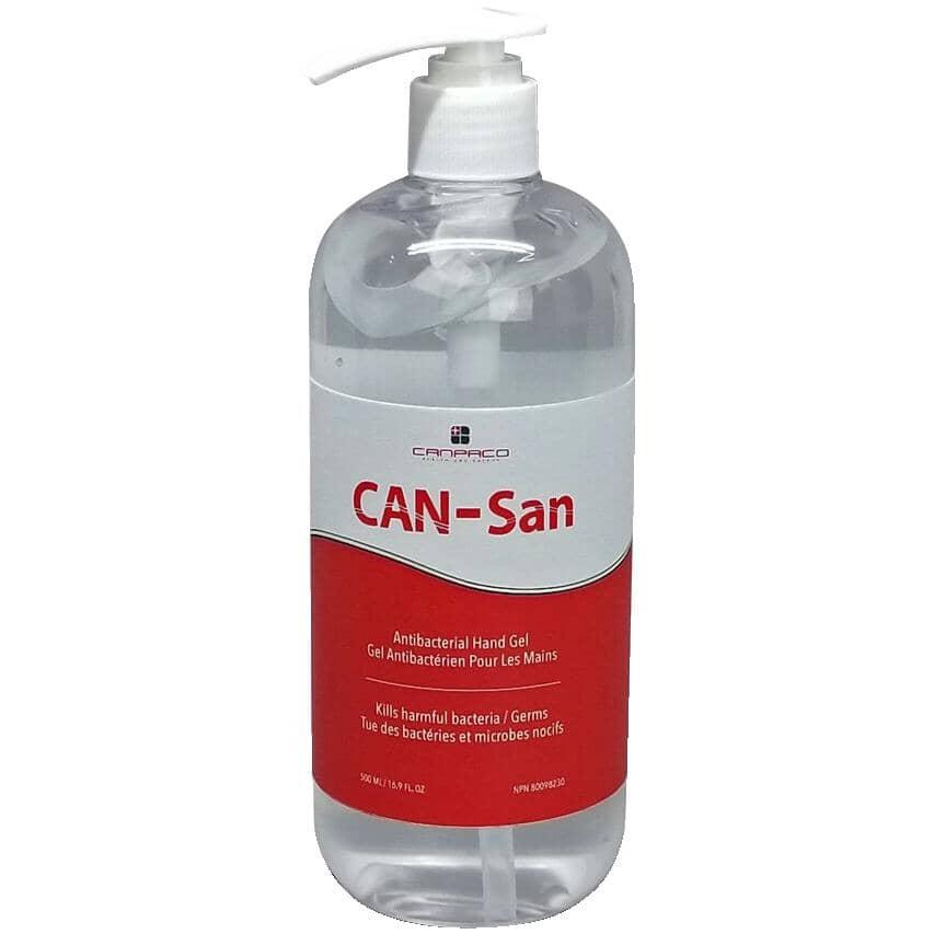 CANPACO:Désinfectant en gel pour les mains avec pompe, 500 ml