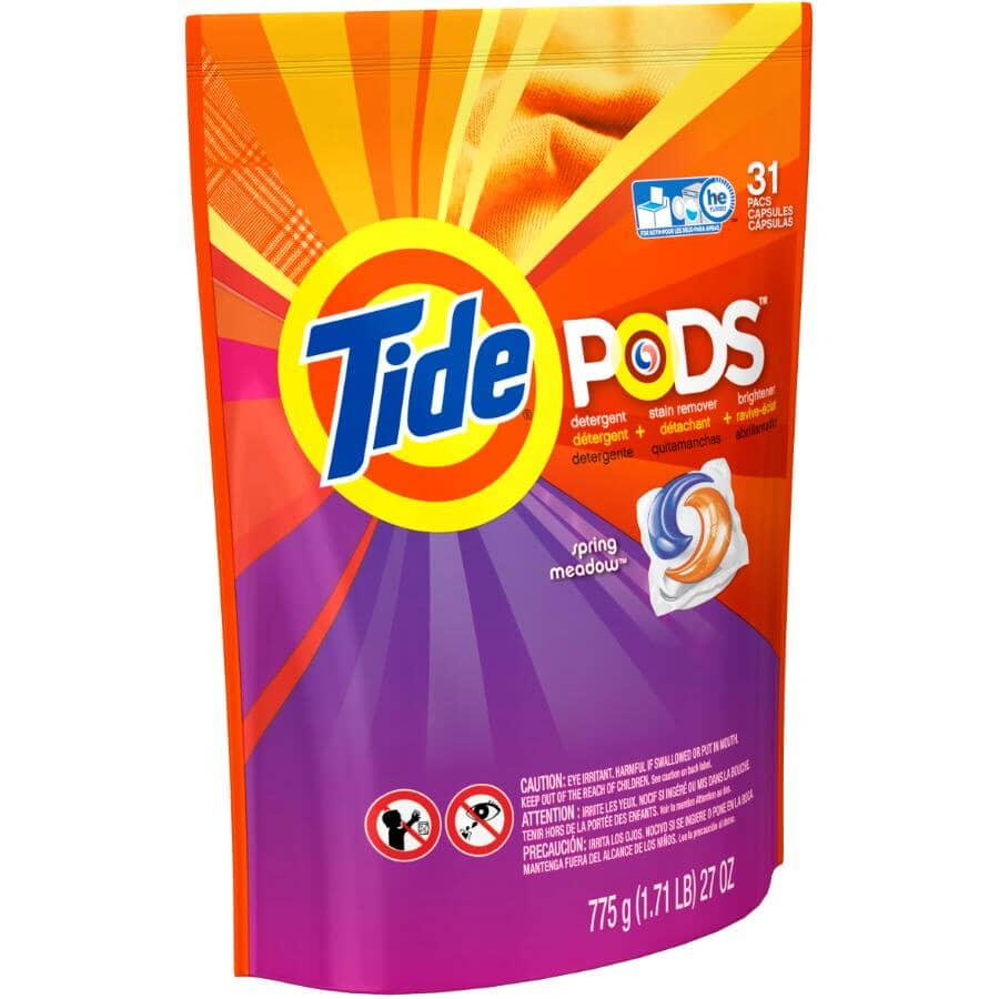 TIDE:31 Pack Spring Meadow PODS laundry Detergent