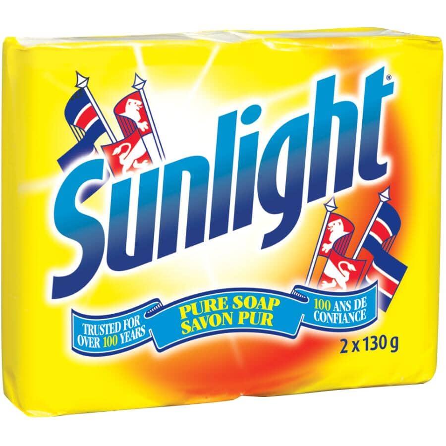 SUNLIGHT:2 Pack 130g Laundry Detergent Bars