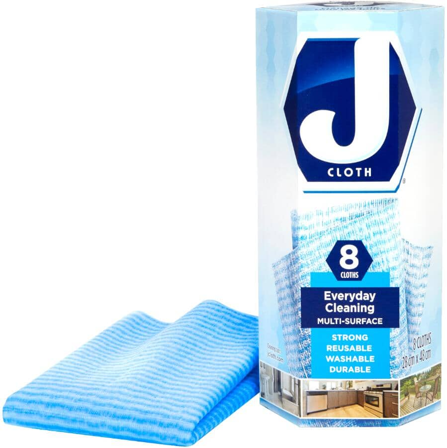 J CLOTH:8 Pack Blue Cleaning Cloths