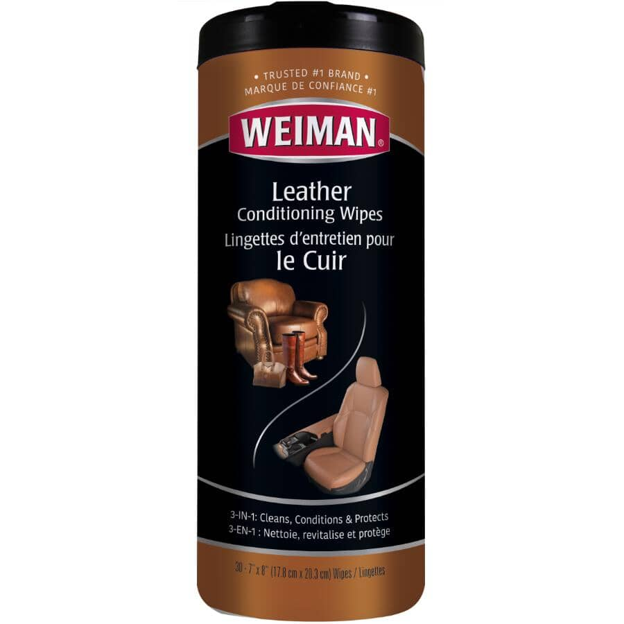 WEIMAN:30 Pack Leather Cleaning Wipes