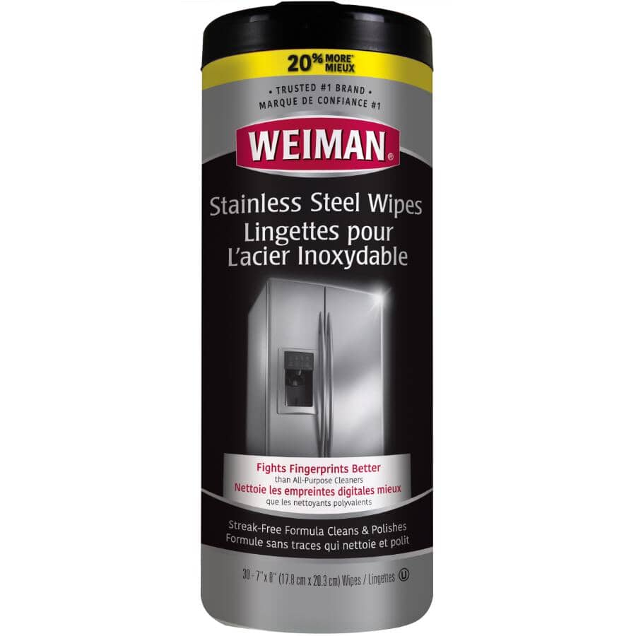 WEIMAN:30 Pack Stainless Steel Wipes