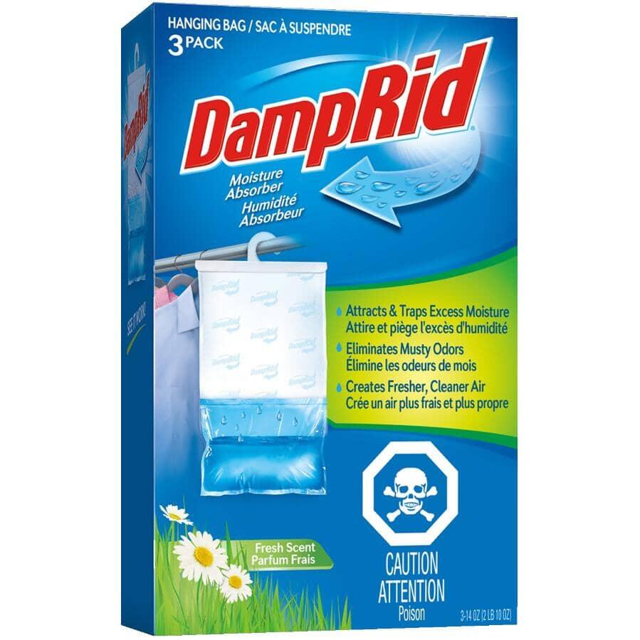 DAMPRID:Hanging Moisture Absorber - Fresh Scent, 3 Pack