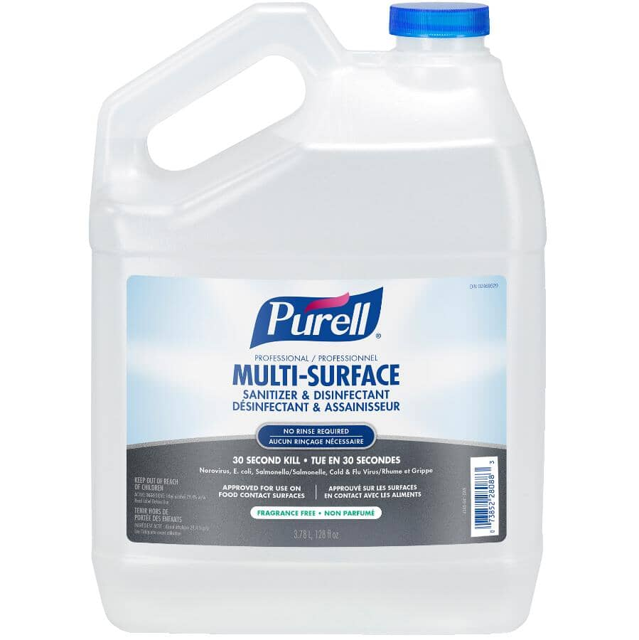 PURELL:Multi-Surface Sanitizer & Disinfectant Refill - 3.8 L, 4 Pack