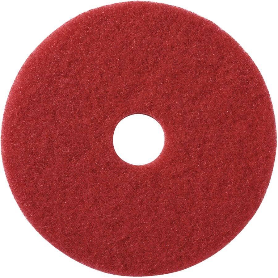SCOTCH-BRITE:Paquet de 5 tampons à lustrer pour plancher, rouge, 17 po