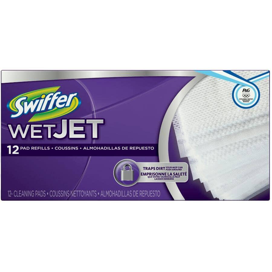SWIFFER:Paquet de 12 recharges de coussins WetJet pour nettoyer