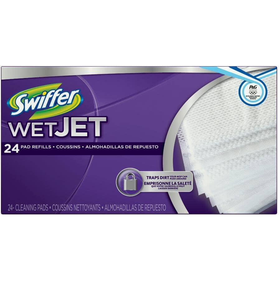 SWIFFER:Paquet de 24 recharges de tampons WetJet pour nettoyer