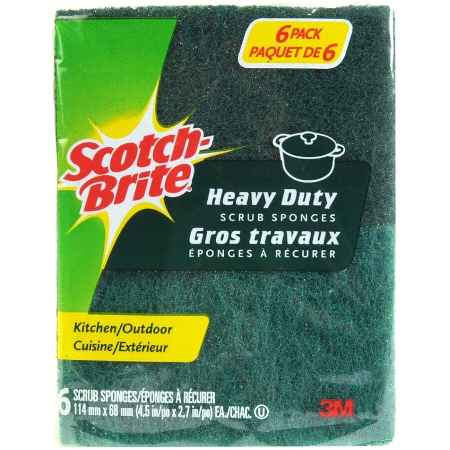 SCOTCH-BRITE:6 Pack Heavy Duty Scrub Sponge
