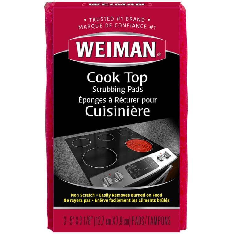 WEIMAN:3 Pack Cooktop Scrubbing Pads