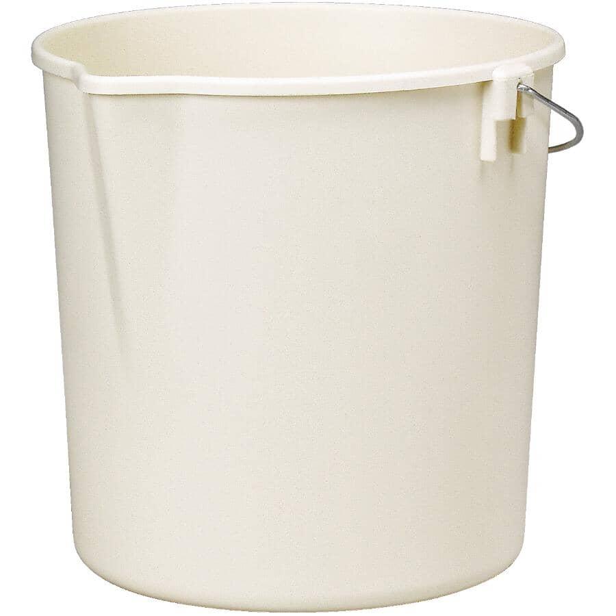 HOMEWARES:9 L Utility Pail - with Spout, Almond