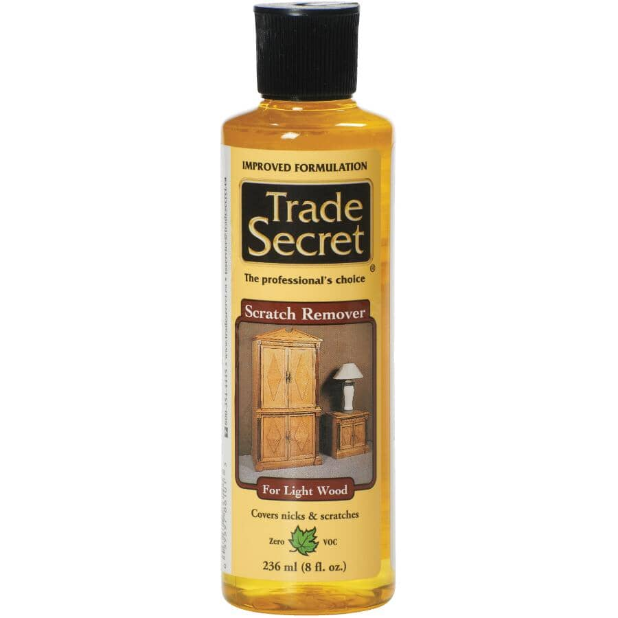TRADE SECRET:Wood Scratch Remover - Light, 236 ml