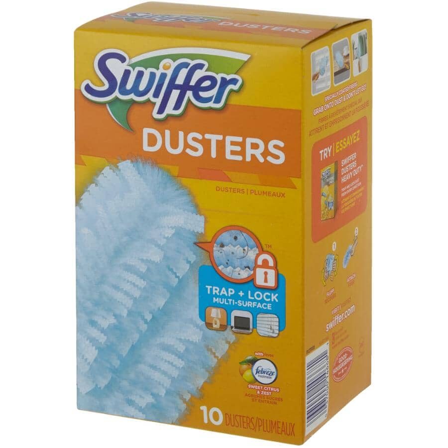 SWIFFER:Paquet de 10 recharges de plumeau, agrumes