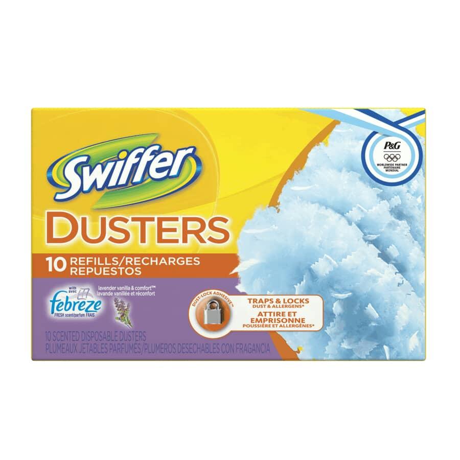 SWIFFER:Paquet de 10 recharges de plumeau, lavande