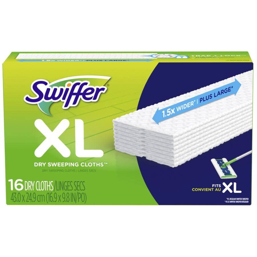 SWIFFER:Paquet de 16 recharges de chiffons secs très grands Sweeper