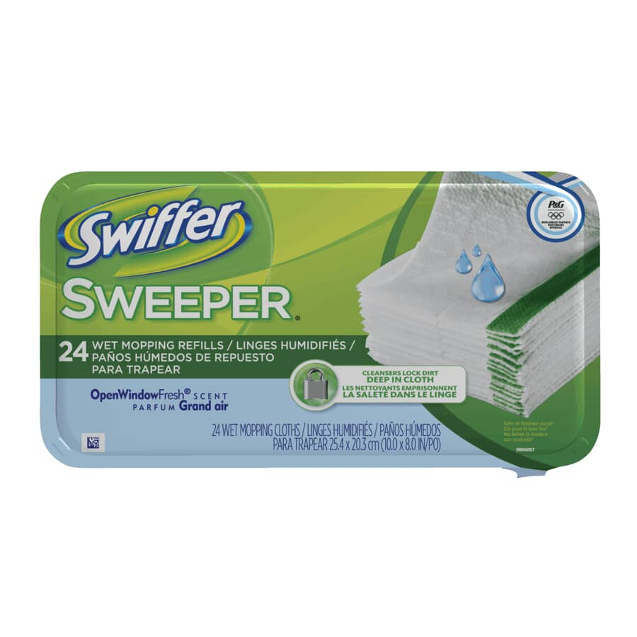 SWIFFER:Paquet de 24 linges humidifiés pour vadrouille, parfum grand air
