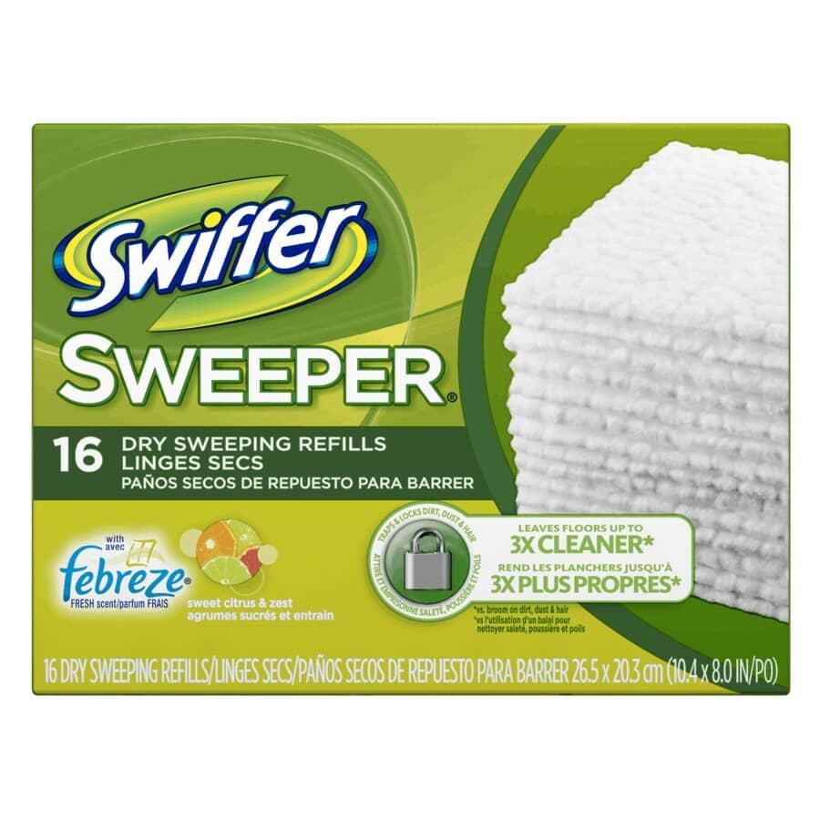 SWIFFER:Paquet de 16 recharges de chiffons ramasse-poussière, agrumes