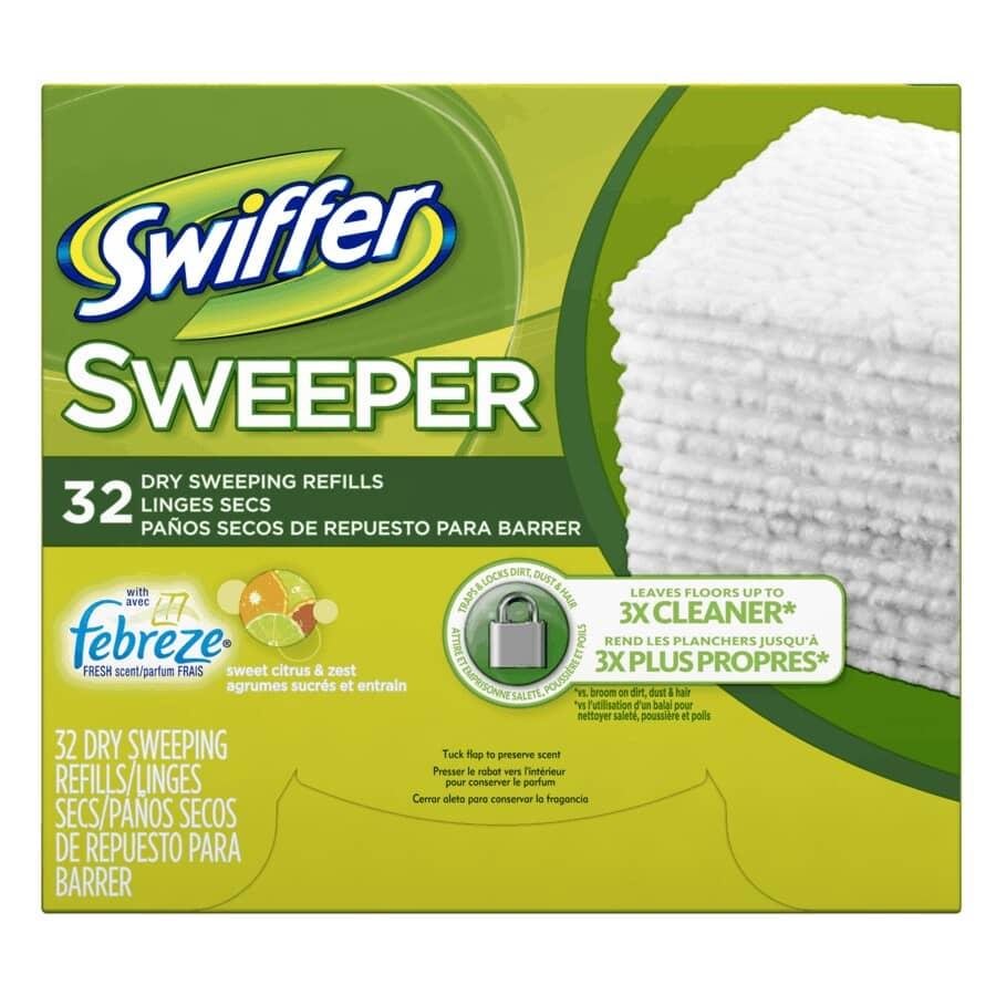 SWIFFER:Paquet de 32 recharges de chiffons ramasse-poussière