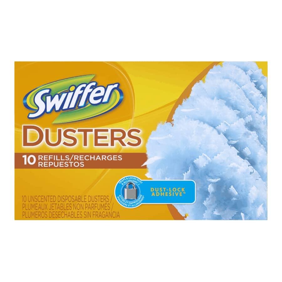 SWIFFER:Paquet de 10 recharges de plumeau, ordinaire