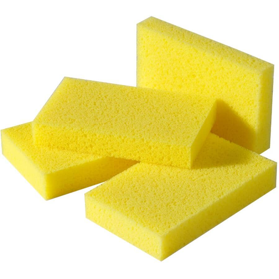 """HOME:4 Pack 4.5"""" x 2.75"""" All Purpose Polyester Sponges"""
