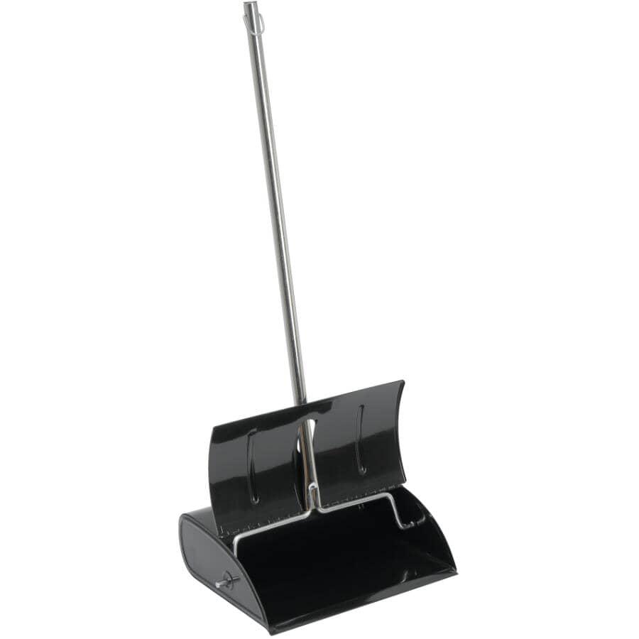 ADVANTAGE:Pelle à poussière en métal de luxe pour vestibule avec couvercle, Hammercraft