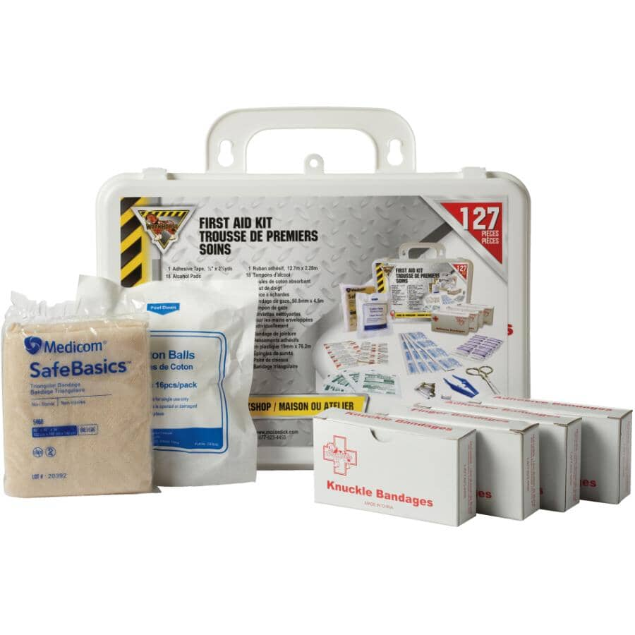 WORKHORSE:Basic First Aid Kit - 127 Pieces