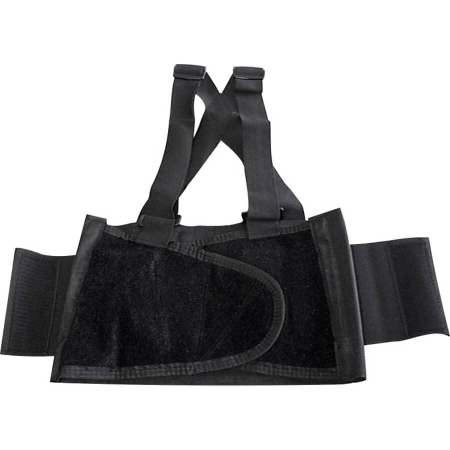 WORKHORSE:Back Support Belt - One Size Fits All, Black