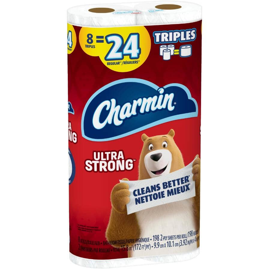 CHARMIN:2 Ply Ultra Strong Toilet Paper - 8 Triple Rolls