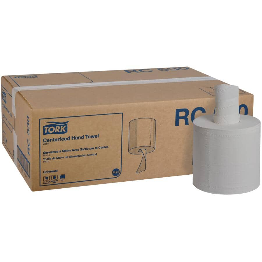 TORK:2 Ply Centerfeed Paper Towels - White, 519', 6 Pack