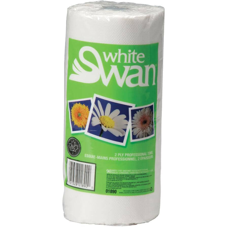 """WHITE SWAN:Paper Towels - 11"""", 90 Sheets, 24 Rolls"""
