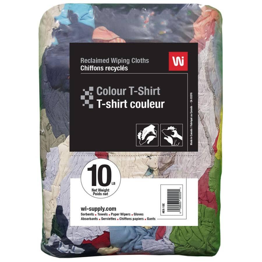 WIPECO:Multi-Purpose Reclaimed Wiping Cloths - Multi-Colour, 10 lb